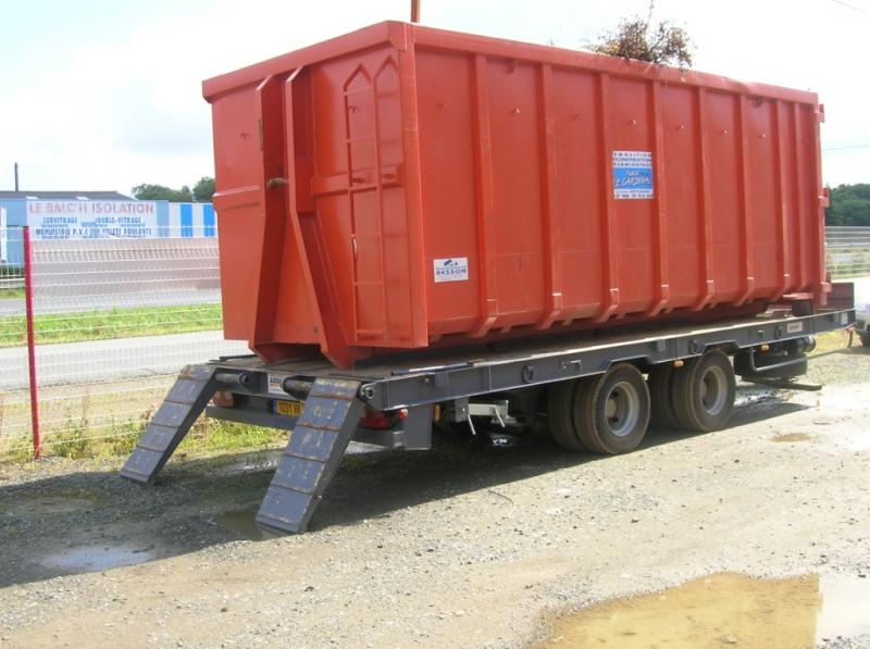 Remorque Mixte Essieux Centraux Porte Engins Porte Caissons - Porte engin occasion 2 essieux